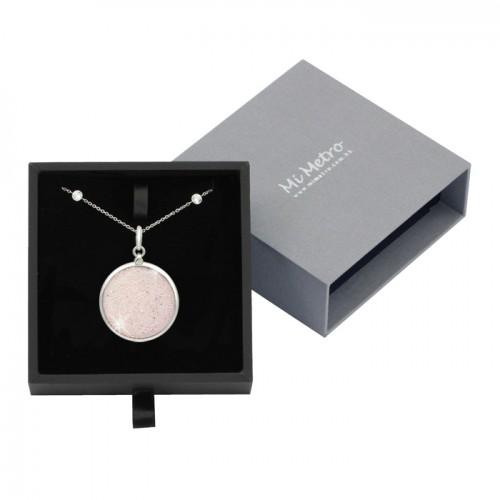 MiMetro x SWAROVSKI粉紅色水晶飾布成人八達通配白色仿鑽長頸鏈套裝