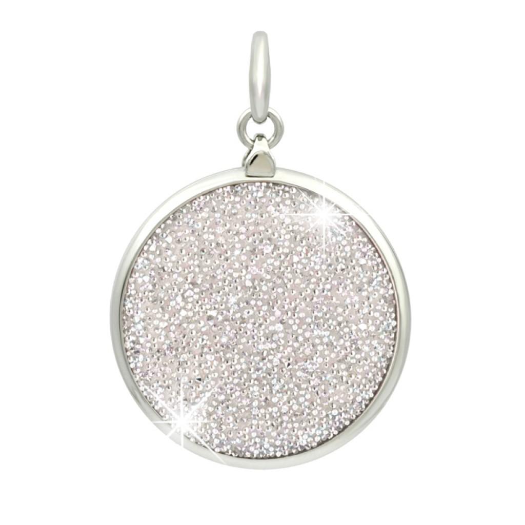 SWAROVSKI銀色水晶飾布迷你圓形MiMetro成人八達通