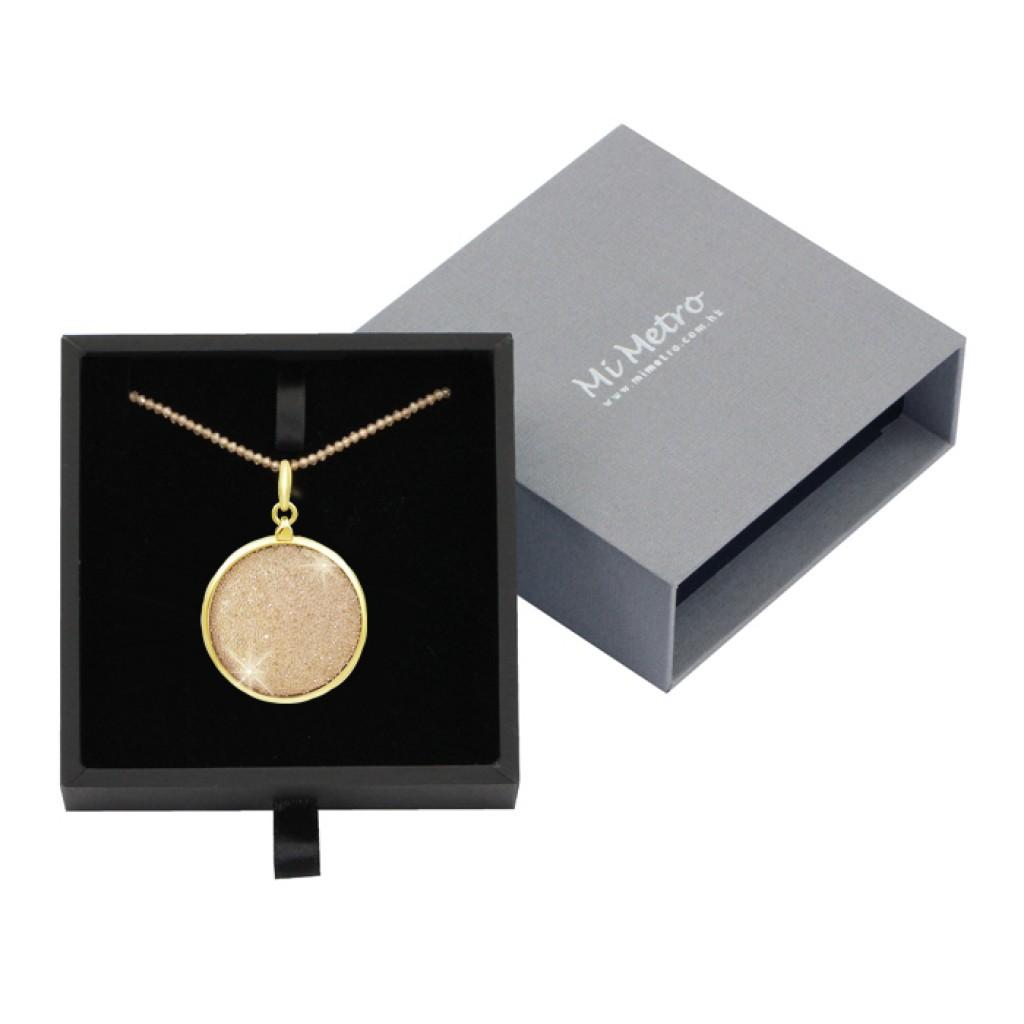 MiMetro x SWAROVSKI香檳色水晶飾布成人八達通配香檳色水晶長頸鏈套裝