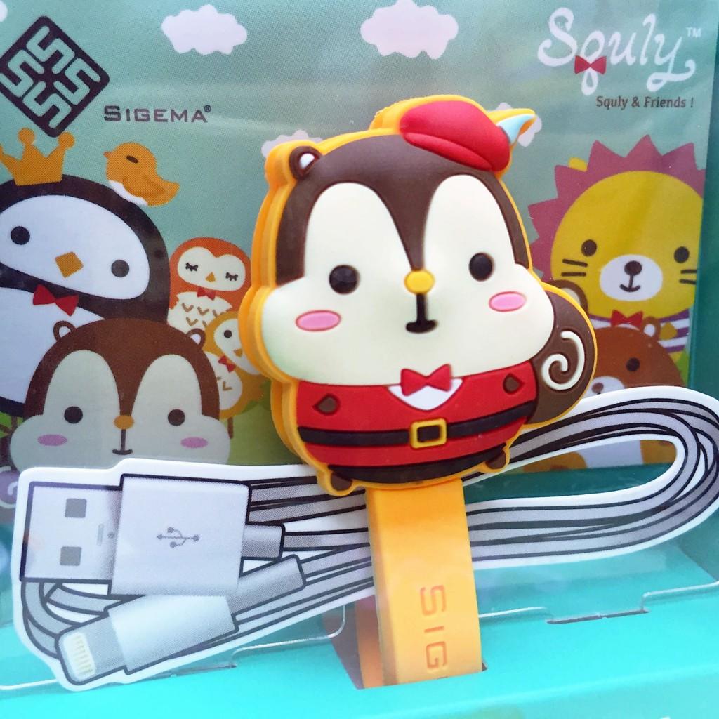 可愛松鼠卡通造型大卷線器(小紅帽 - Squly)- E014SQE